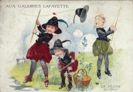 CHROMO GALERIES LAFAYETTE PARIS 1900 16,5 X 11,5 CM. - Sonstige