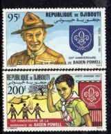 Djibouti P.A. N°169 /70 X : 150ème Anniv. De La Naissance De Lord Baden-Powell Gomme Blanche Trace De Charnière Sinon TB - Djibouti (1977-...)