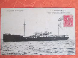 Paquebot Amiral Olry .vapeur Francais Des Chargeurs Reunis . Ligne De Marseille En Extreme Orient. Cachet Annam - Paquebots