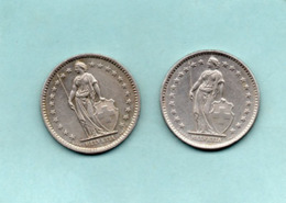 Suisse 2 Pieces ; 2 Fr   1B Année 1968-74 - Schweiz
