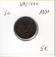 Vatican. 5c. 1931 - Vatikan