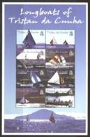 TRISTAN DA CUNHA, 2001, LONG BOATS, YV#675-82, MNH - Tristan Da Cunha