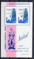 BRASILE 1967 - NATALE - FOGLIETTO MNH ** - Noël