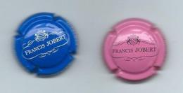 345 CH - CHAMPAGNE Francis JOBERT 2 CAPSULES ( ROSE ET BLEU) - Champagne
