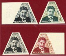 Monaco 1955 #326, Color Proof X4, Dr. Albert Schweitzer - Nuevos