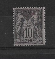 FRANCE  SAGE      N° 103  NEUF SANS CHARNIERE - 1876-1878 Sage (Type I)