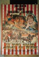 "Affiche Pliée ""Le Plus Grand Cirque Du Monde"" 120x160 John Wayne, Claudia Cardinal, Rita Hayworth - Manifesti"