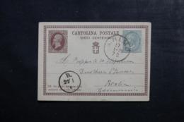 ITALIE - Entier Postal + Complément De San Rémo ( Hôtel Di London ) Pour Berlin En 1878 - L 44963 - 1861-78 Victor Emmanuel II.