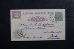 ITALIE - Entier Postal + Complément De Milano Pour Berlin En 1878 - L 44965 - 1861-78 Victor Emmanuel II.