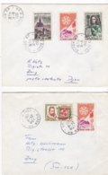 France, Cote D'Or - 7 Lettres De 1961 De Dijon Pour La Suisse - Marcophilie (Lettres)
