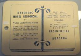 HOTEL PENSAO ESTALAGEM LUANDA KATEKERO AFRICA MOCAMBIQUE ANGOLA PORTUGAL DECAL LUGGAGE LABEL ETIQUETTE AUFKLEBER - Hotel Labels