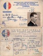 Carte D'adhérent - 1939-45