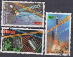 Djibouti P.A. N° 219 / 21 O :  Expansion Des Télécommunications Les 3 Valeurs Oblitérées, TB - Djibouti (1977-...)