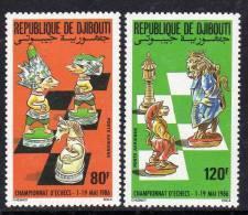 Djibouti P.A. N° 229 / 30 XX : Championnat Du Monde D'échecs La Paire Sans Charnière TB - Djibouti (1977-...)