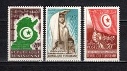TUNISIE  N° 451 à 453   NEUFS SANS CHARNIERE  COTE  2.00€  INDEPENDANCE - Tunesië (1956-...)