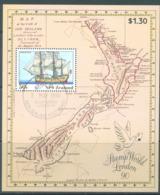 NEW ZEALAND - USED/OBLIT. - 1990 - ENDEAVIOUR - Yv Bloc 74 Mi Bl 24 SG MS1542 Sc 981a  - Lot 20590 - Blocs-feuillets
