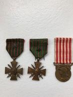 Lot De 3 Médailles - 1914-18