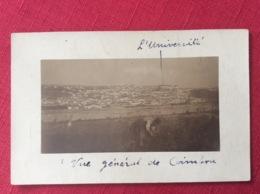 Coimbra Carte Photo Avec La Célèbre Université écrite En 1917 Voir Recto Verso - Coimbra