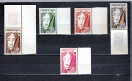TUNISIE  N°457 à 461   NEUFS SANS CHARNIERE  COTE  4.00€  REPUBLIQUE  VISAGE DE FEMME - Tunesië (1956-...)