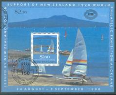 NEW ZEALAND - USED/OBLIT. - 1990 - TAKAPUNA BEACH - Yv Bloc 75 Mi Bl 25 SG MS1558 Sc 996a  - Lot 20591 - Blocs-feuillets