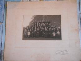 Grande Photographie Famille Dans Le Trégor C.1900 Photographe Delattre Guingamp Kx - Lieux