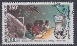 Djibouti P.A. N° 171 O : 2ème Conférence O.N.U. Pour L'exploitation De L'espace Oblitéré, TB - Djibouti (1977-...)