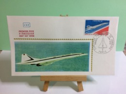 Le Concorde Paris Rio De Janeiro - Paris - 10.1.1976 FDC 1er Jour Coté 8€ - 1970-1979