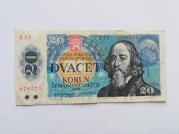 CECOSLOVACCHIA 20 KORUN 1988 - Czechoslovakia