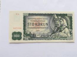 CECOSLOVACCHIA 100 KORUN 1961 - Cecoslovacchia