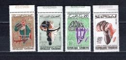 TUNISIE  N° 529 à 532   NEUFS SANS CHARNIERE  COTE  4.50€  JOURNEE DE L'AFRIQUE - Tunesië (1956-...)
