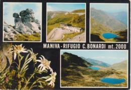 MANIVA - RIFUGIO C. BONARDI - VEDUTINE MULTIVUES - VIAGGIATA 1973 - Andere Städte