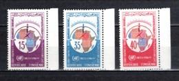 TUNISIE  N° 605 à 607   NEUFS SANS CHARNIERE  COTE  2.00€  NATIONS UNIES - Tunesië (1956-...)