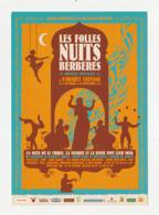 LES FOLLES NUITS BERBERES Carte Publicitaire CABARET SAUVAGE PARIS En 2006 - Publicidad