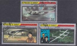Djibouti P.A. N° 233 / 35 O : Grands Raids Aériens Les 3 Valeurs Oblitérées, TB - Djibouti (1977-...)