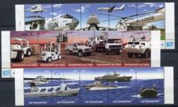 RC 14229 NATIONS UNIES 2010 MOYENS DE TRANSPORT DE L' ONU COTE 33,00€ NEUFS ** - UNO