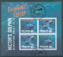 NEW ZEALAND - USED/OBLIT. - 1991 - HEALTH DOLPHIN - Yv Bloc 78 Mi Bl 28 SG MS1622 Sc B140a  - Lot 20594 - Blocs-feuillets