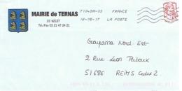 62 - Mairie De TERNAS  (avec Timbre) - Entiers Postaux