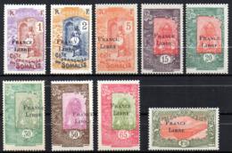 Col17  Colonie Cote Des Somalis France Libre N° 193 à 203 Sauf 195 & 202  Neuf XX MNH Luxe  Cote 121,00€ - Ongebruikt