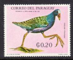 PARAGUAY - 1969 20c WILDLIFE BIRD STAMP FINE MNH ** Mi 1931 - Paraguay
