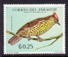 PARAGUAY - 1969 25c WILDLIFE BIRD STAMP FINE MNH ** Mi 1932 - Paraguay