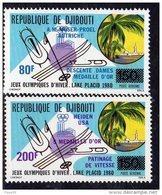 Djibouti P.A. N° 141 / 42 X : Vainqueurs Aux J.O. à Lake Placid: Les 2 Valeurs  Trace De Charnière Si - Djibouti (1977-...)