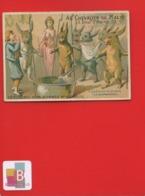 Rare Chromo Calendrier Semestriel 1878 Chevalier Malte  Romanet  7 Châteaux Diable Lapin Casserole Péché Gourmandise - Chromo