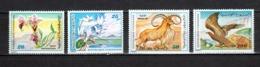 TUNISIE  N° 923 à 926    NEUFS SANS CHARNIERE  COTE  7.00€  FLEUR  ANIMAUX - Tunesië (1956-...)