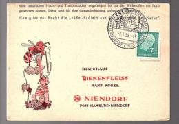 Zell (Hammersbach) 1959 Alfons Kremp Honey Bee Hugo Hoch  > Bienenfleiss Niendorf (Bu12-20) - Briefe U. Dokumente