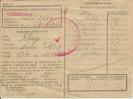 Kriegsgefangenenpost Prisonnier Guerre 1943 Stalag XII A Limburg  + Censure, Colis Croix-Rouge Vers MELIN JODOIGNE - Cartas