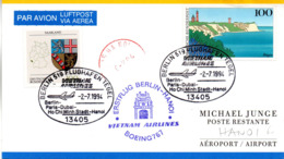 """(Bu-B4) Sonder-Karte Vietnam Airlines """"ERSTFLUG BOEING 767 BERLIN-HANOI"""" MiF BRD Mi 1684,1712 SSt.2.7.1994 BERLIN 519 - Airplanes"""
