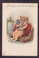 CPA Wain Louis Chat Cat Position Humaine Humanisé Circulé Raphaël TUCK 331 - Wain, Louis