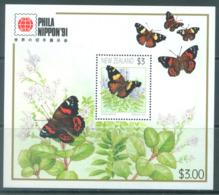 NEW ZEALAND - MNH/** - 1991 - BUTTERFLIES PHILA NIPPON - Yv Bloc 81  - Lot 20596 - Blocs-feuillets