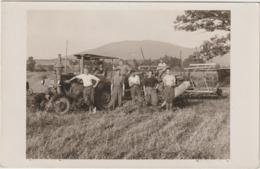 CPA  RARE   STALAG VIII   MOISSON TRACTEUR BATTEUSE  1939/1945 CARTE PHOTO  TRACTEUR LANZ - Tracteurs
