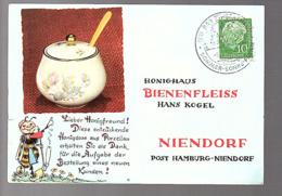 1959 Bad Schwischenehn Sommer Sonne Ferien   > Bienenfleiss Niendorf (damaged At Left) (Bu12-25) - Briefe U. Dokumente